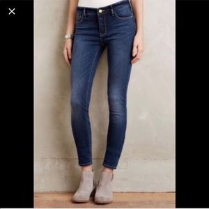 Pilcro Anthropologie Low Rise Straight Jeans